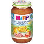 HIPP Био  бебешко пюре Макарони с шунка и зеленчуци 8м+ 220 гр.